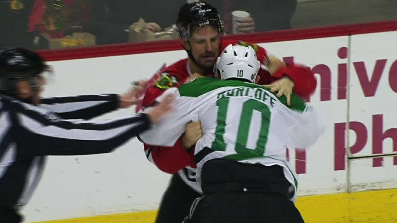Gotta See It: Horcoff hammers Sharp & sparks fight